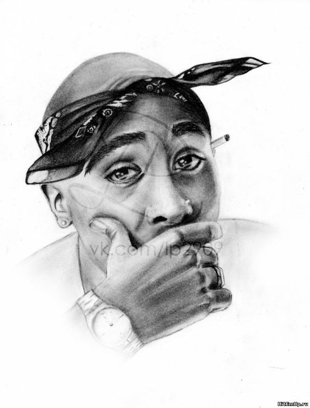 2Pac art by LP